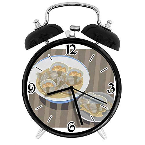 jifyasuo Reloj Despertador Digital Clam Vector Adecuado para Estudio de Dormitorio de Oficina