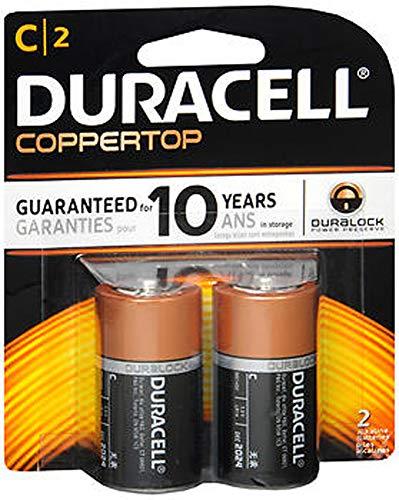 Duracell Coppertop C Batteries, 2ct, 2pk