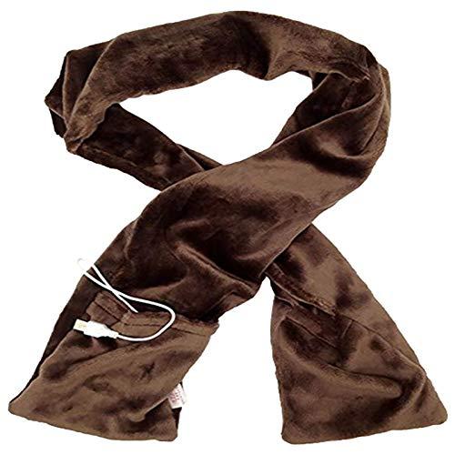 Ewendy USB Beheizter Schal, Elektrisch Wärmer Heizschal Für Herren Damen, 3 Heizstufen, Waschbarer Winddichter Winter Schal Nackenwärmer Für Kälteschutz Im Innen- Und Außenbereich (BW)
