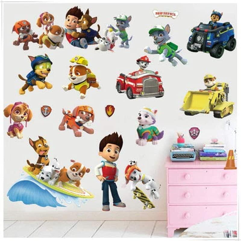 Utopiashi 3D Paw Patrol Background Children S Room Bedroom Wall Stickers Waterproof