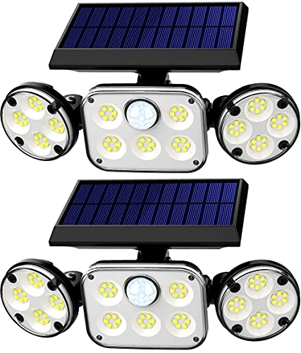 Solar Motion Lights Outdoor, 2 Pack RJFOYB 3...