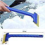 Huhu833 2er Eiskratzer Schneeschaufel Werkzeug für Auto Windschutzscheibe Schnee Frost Reinigungsbürste Entfernen Schneebürste Schaufel Windschild Eiskratzer (Blau)