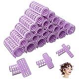 60 piezas de rodillos para el cabello sin calor rulos para el cabello rodillos de agarre automático herramientas profesionales de peluquería para bricolaje para peluquería