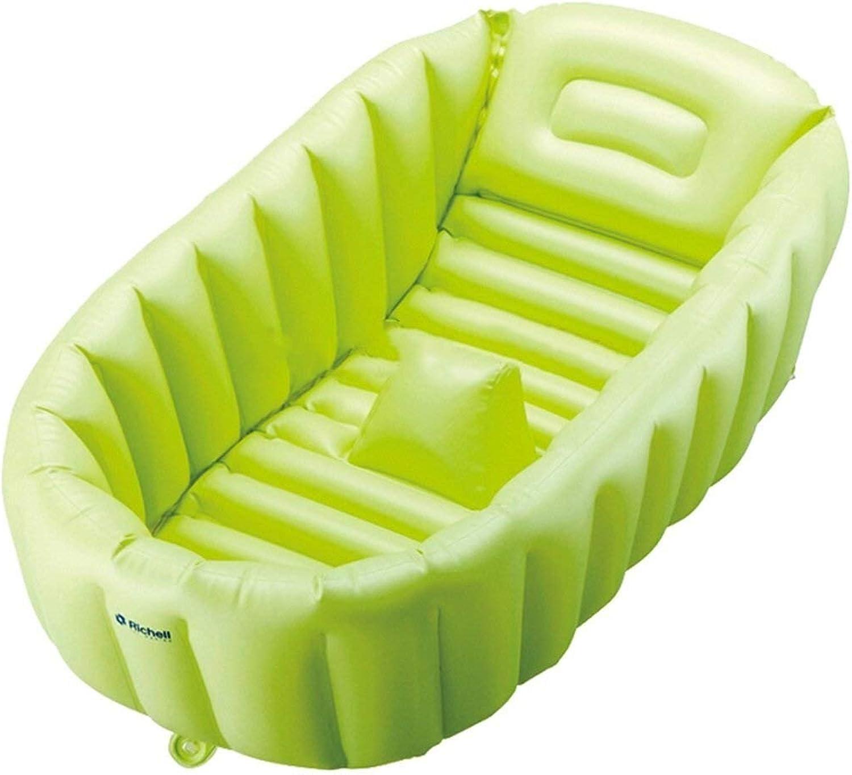 Erwachsene Badewanne, Schwimmbad Praktisches Tragbares Kind Erwachsenes Baby Aufblasbares Badewannenbecken Für Kinder Aufblasbares Tauchbad TINGTING (Farbe   Grün, Größe   106  61.5cm)