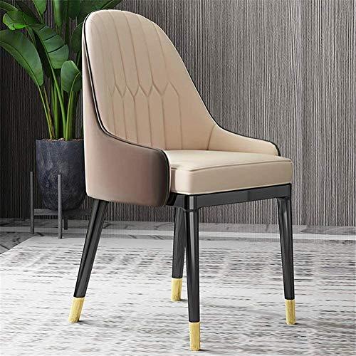 SZHWLKJ Sillas de Comedor piernas robustas de Metal,Accent Chairs Cuero de la PU,Silla Ocasional Moderno de Comedor Sala de Estar Contador Estar Cafetería (Color : Kmw-9)