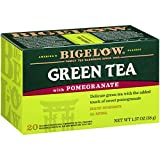 Bigelow Green Tea with Pomegranate Tea Bags, 20 Count Box (Pack of 6) Caffeinated Green Tea, 120 Tea Bags Total