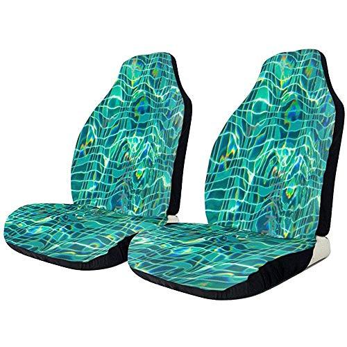Fundas de asiento de coche azul piscina elástica manta de sillín con asiento universal para la mayoría de coches/camiones/todoterrenos,