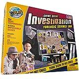WILD! Science WS103XL Crime Scene Investigation - Forensic Science Kit - Ages 8+ - Match Fingerprints, Analyze DNA, Find Secret Messages and More!