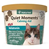 Quiet Moments Calming Aid Plus Melatonin helps promote rest and relaxation. Unique blend of thiamine and L-Tryptophan can help reduce stress and tension in your cat. Veterinarian formulated with ginger to support sensitive stomachs which is especiall...
