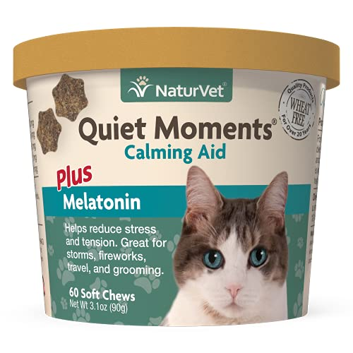 NaturVet –Quiet Moments Calming Aid for Cats Plus...