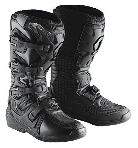 Scott 350 MX Motocross Supermoto Motorrad Stiefel schwarz/schwarz 2019: Größe: 48