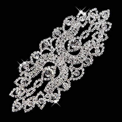 ASTONISH 1Piece Blumen-Glasstrassapplikationen Strass Brautkleider für Kostüm Dekoration: Splitter