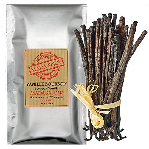 10 Vainas frescas de vainilla de Madagascar / 12-14cm.