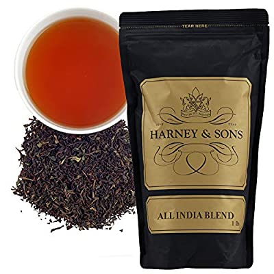 Harney & Sons All India Blend Loose Tea, a blend of teas from Assam, Darjeeling and Nilgiri, 16 Ounce