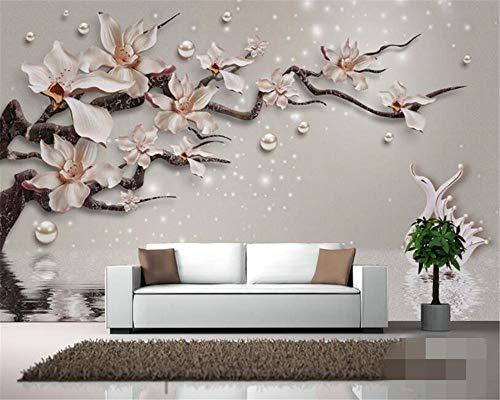 Preisvergleich Produktbild WYH-YW Benutzerdefinierte Tapete der Familienzimmer-Hintergrund-Wand-3D hohe Qualität prägen Orchideen-Schmuck-Schwan-Foto-Tapeten-Wandbilder 150cmx105cm(B×H)