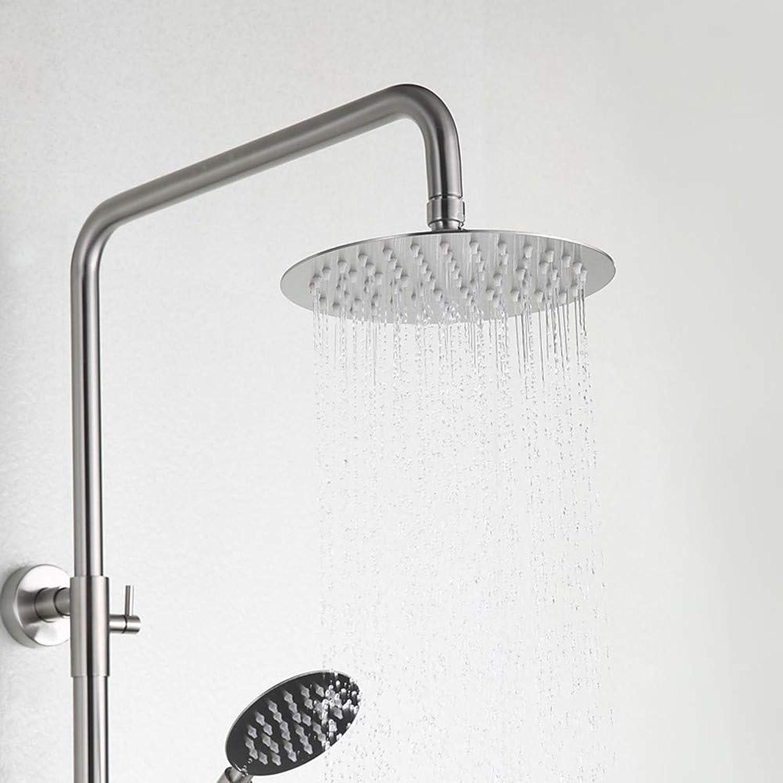 Xiaofengliustore Dusche mischer Duscharmaturen - Moderne Gebürsteter Nickel Duschsystem Keramisches Ventil Bath Shower Mixer Taps Edelstahl Einzigen Handgriff Zwei Lcher
