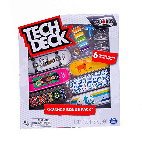 Tech-Deck Sk8shop Bonus Pack 6 Pack 96mm Fingerboards (Enjoi)