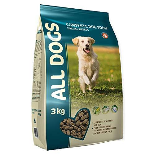 All Dogs dänisches Premium Hundefutter Trockenfutter Adult, Senior 3kg von Aller Petfood Dänemark, leicht verdauulich mit Huhn