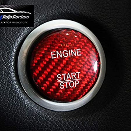 Rot Carbon Look Gfk Start Stop Knopf Button Cover Passend Mercedes Benz Amg A45 Cla45 Gla45 C63 C43 C63s E63 S63 Glc Gla Glk Cls Sl Cl Slk Slc Auto