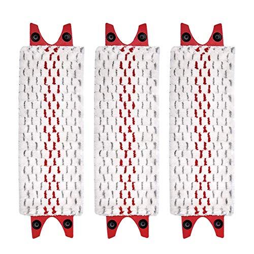 Buyfunny01 Lot de 3 tampons de serpillère lavables en microfibre réutilisables pour la maison, le sol, la salle de bain, le séchage rapide, les pièces de rechange pour la cuisine Vileda Ultra