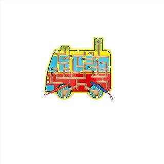 木製の環状の磁性の軌道の筆の運び方は迷宮を運搬して子供の知力の益智のおもちゃのつるつるな玉ゲームを開発します (バスの迷宮)