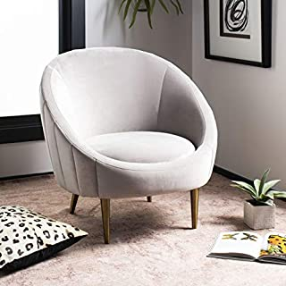 Safavieh Couture Home Razia Retro Glam Pale Taupe Velvet Channel Tufted Tub Chair (B07HSN8FDY) | Amazon price tracker / tracking, Amazon price history charts, Amazon price watches, Amazon price drop alerts