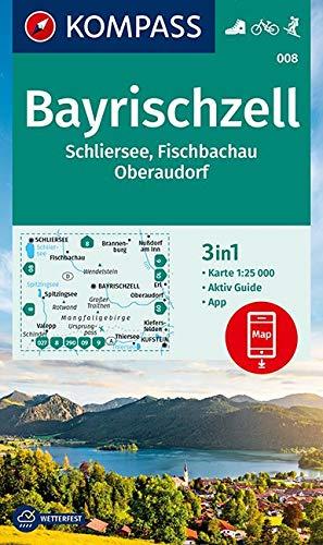 KOMPASS Wanderkarte Bayrischzell, Schliersee, Fischbachau, Oberaudorf: 3in1 Wanderkarte 1:25000 mit Aktiv Guide inklusive Karte zur offline Verwendung ... Skitouren. (KOMPASS-Wanderkarten, Band 8)