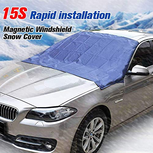 Sunny color TMA-1 Magnetic Edges Windshield Snow Cover No More Scraping Car Fits Most Car, SUV, Truck, Van with 70'x 54'