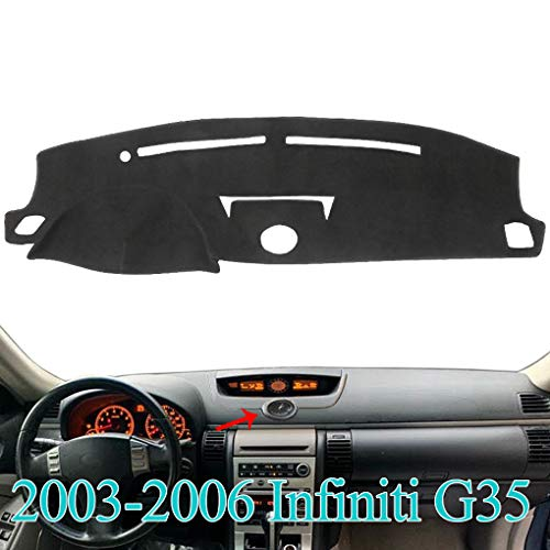 MR067 Block UV Black YRCP Dashboard Covers for Infiniti G20 G35 G37 2008-2013 Anti-Slip Dash Cover Mat Pad