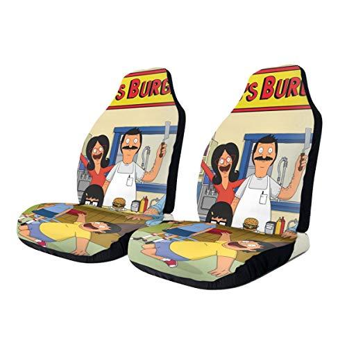 Bob's Burgers Front Saddle Blanket Nonslip Car Seat Cover, Car Seat Protectors Tire Tracks Car Seat Accessories Fit Most Vehicle,Sedan,Truck,Van 2 Pcs