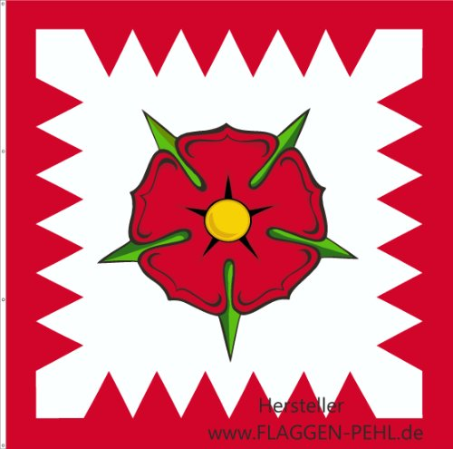 Schaumburg-Lippe Fürstenstandarte Lippische Rose Fahne 150 x 150 cm Flagge.
