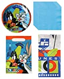 Party Bundle Looney Tunes Back in Action Bugs Bunny Daffy Duck Birthday Party Supplies Decoration Bundle Includes Plates, Napkins, Table Cover, Loot Bags