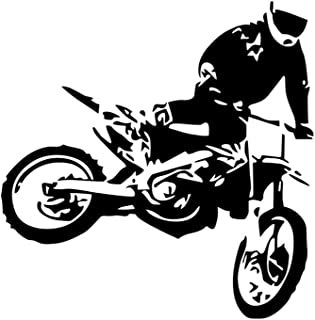 Vosarea 59x59cm Black Motorcycle Racer Bike Motor Sport Vinyl Wall Decals Wall Decor Sticker for Kids Room Home Window Dec...