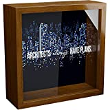 Architect Gift | 6x6x2' Memory Shadow Box | Glass Fronted Keepsake Box | Great Architecture Gifts for Women or Men | Cool Architectural Wall Decor | Ideal for Office Decor | Gift for Architect Stude