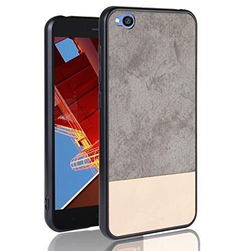 Cubierta de Repuesto para teléfono móvil, para el teléfono Celular Xiaomi a Prueba de Golpes Color Denim PC + PU + TPU Teléfono móvil Funda Protectora Funda rígida for Xiaomi Redmi Go (Color : Grey)