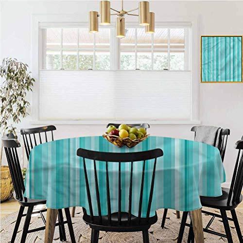 Ronde tafelkleed, salontafelkleed, Aqua, Mozaïek Tegels Geruit Vierkant Tafelhoezen zijn perfect voor keuken tafelblad buffet decoratie