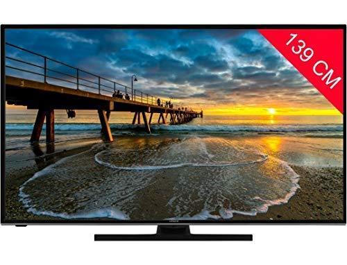 Téléviseur LED Ultra HD 4K 139 cm Hitachi 55HK6100 - TV LED 4K 55 pouces - TV connecté / Smart TV - Netflix - Enregistrement PVR (sur USB) - Prise casque - Son 2 x 10 W