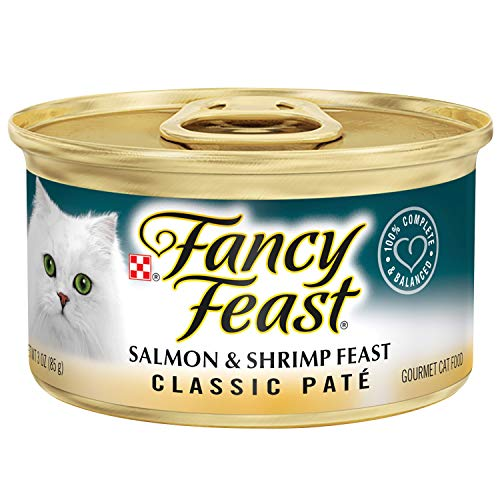 30 Cans of Purina Fancy Feast Classic Pate Salmon & Shrimp Feast Wet Cat Food - 3 oz.ea
