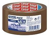 Tesa 57168-00000-05 - Torre de rollos de cinta de embalaje (PVC, 50 mm x 66 m, fuerte, 6 unidades), color marrón