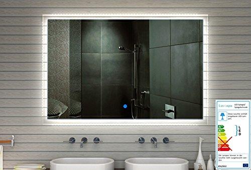 Badkamerspiegel wandspiegel LED met 710 lumen touch schakelaar lichtkleur koud/warm instelbaar 60 x 59 cm - MF91060