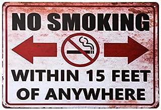 dingleiever-No Smoking Within 25 feet Sign, Outdoor Rust-Free Metal