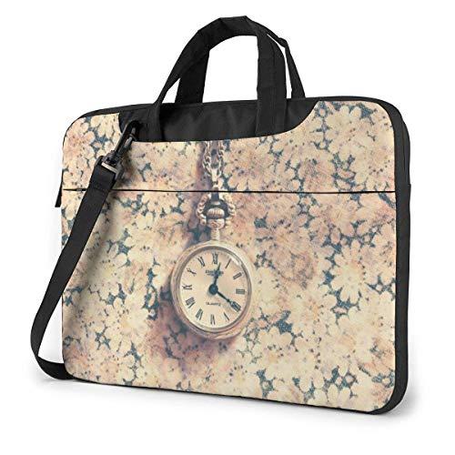 AOOEDM Estuche para computadora portátil Funda para bolsa para computadora, Reloj de pulsera Rosa, multifuncional, impermeable, para viaje, para tableta, hombro, maletín, bolso de transporte a prueb