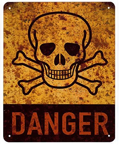 Moritz Blechschild Danger Totenkopf Skull Gefahr 20 x 25 cm Deko Schild mit Aufdruck Aufschrift