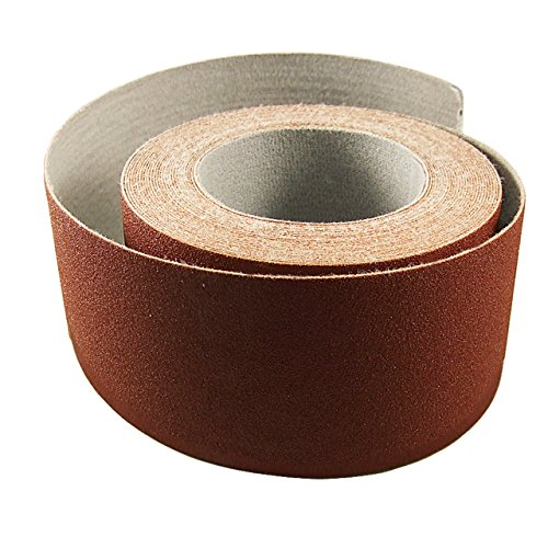 Red Label Abrasives 3 Inch X 50 Foot 80 Grit Premium Loop (Felt) Backed Ready-to-Cut Cloth Sanding Roll for Hook and Loop Drum Sanders
