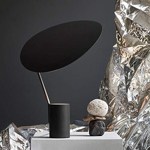 L.W.S Lámpara de Escritorio Lámpara Pink/Black Girl Room Children's Warm Nordic Model Modelo Diseño de Sala de Estar Lámpara de Mesa de Noche 40 * 38 (cm) (Color : Black)