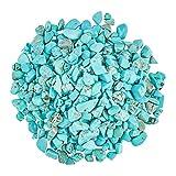 AHANDMAKER Cuentas de chips de turquesa natural, 2/3 libras pulidas de piedras preciosas desperforadas cristales para decoración