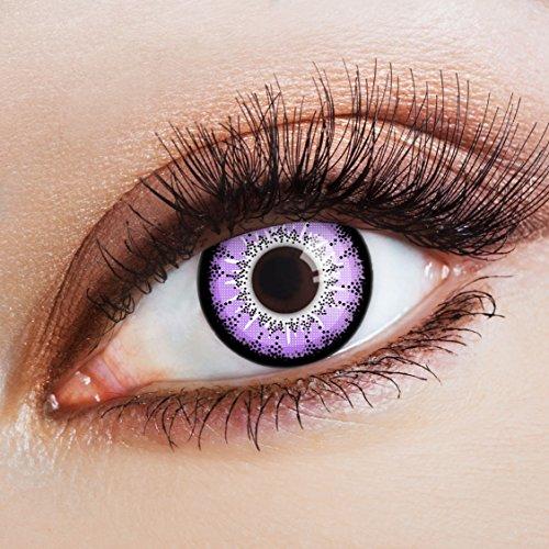 aricona Kontaktlinsen Farblinsen  Natürliche farbige Kontaktlinse Ladies Night   – Jahreslinsen für helle Augenfarben, ohne Stärke, Farblinsen als Modeaccessoire für den täglichen Gebrauch