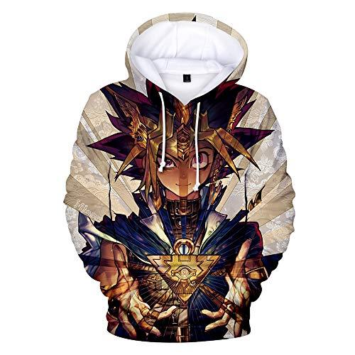 Yu-Gi-Oh Pullover Gemütlicher mit Kapuze Pullover bedruckter Pullover Freizeit Mode Hoodies Sweatshirt Unisex (Color : A01, Size : S)