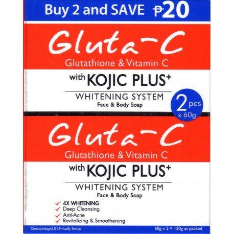 Gluta-C Kojic Plus + Savon 60GR X2