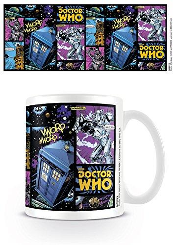 Pyramid International Doctor Who - Comic Strip Keramikbecher, Keramik, Mehrfarbig, 8.5 x 12 x 10.5 cm